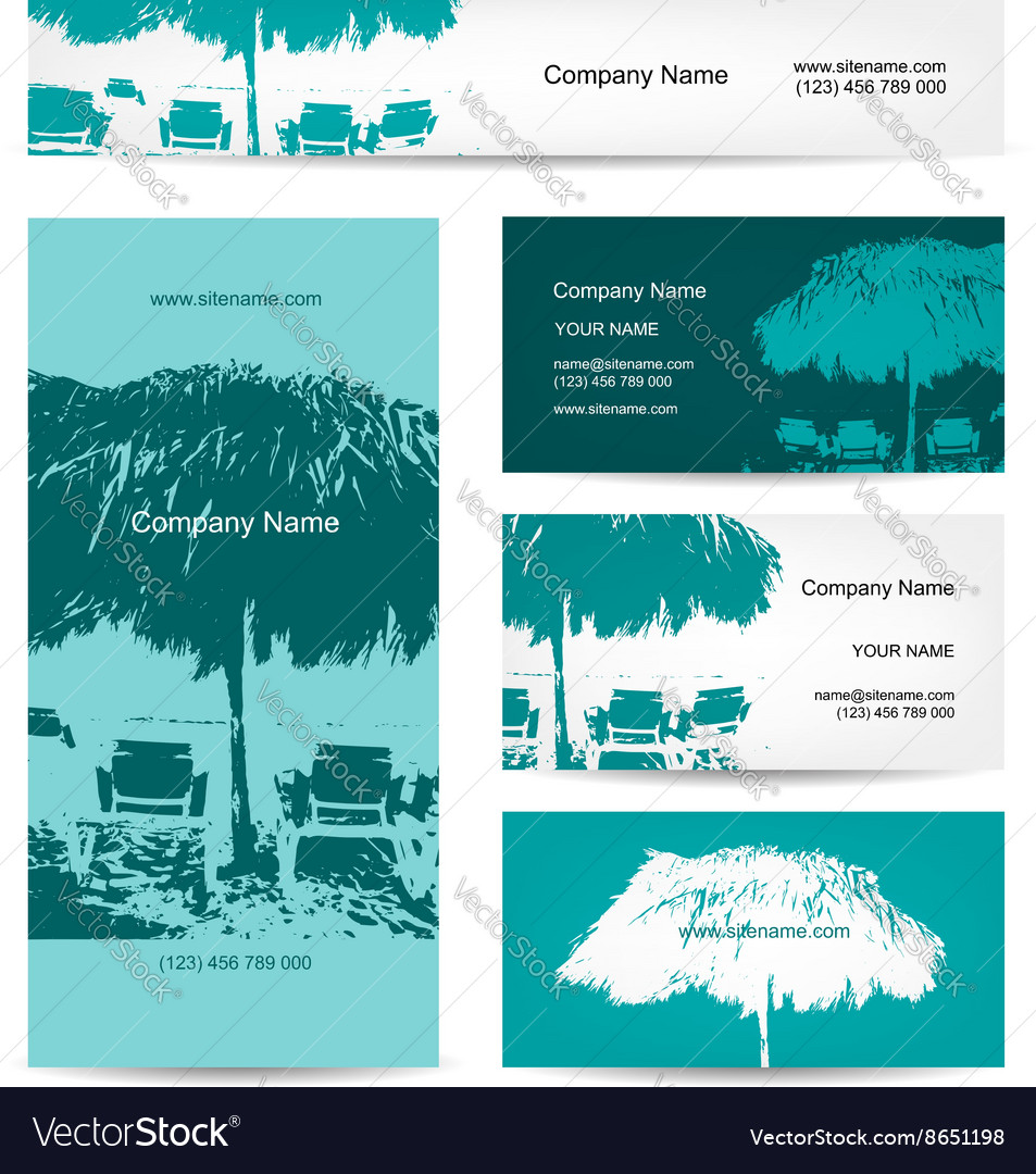 Business card design tropical resort vector image
