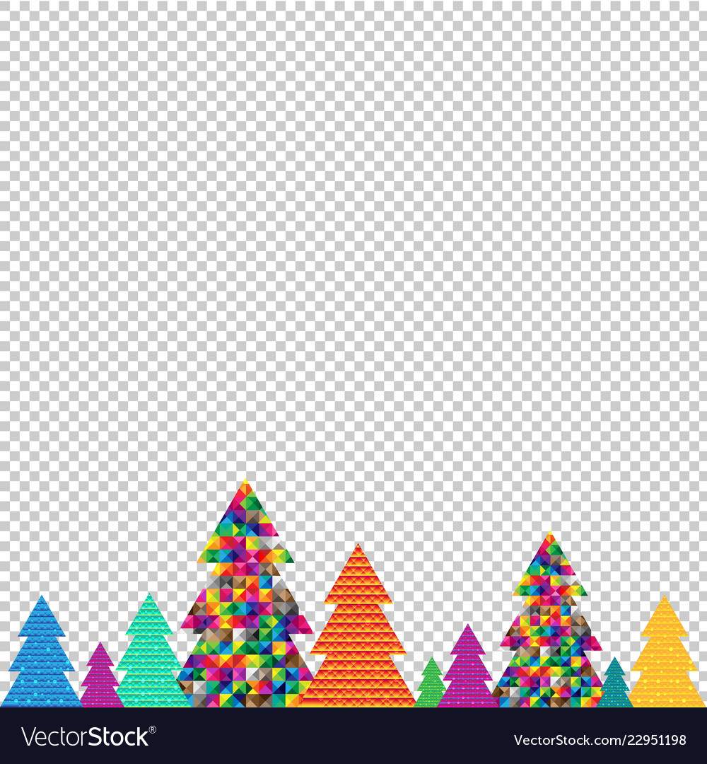 Christmas Tree Transparent Background.Happy Christmas Tree Transparent Background