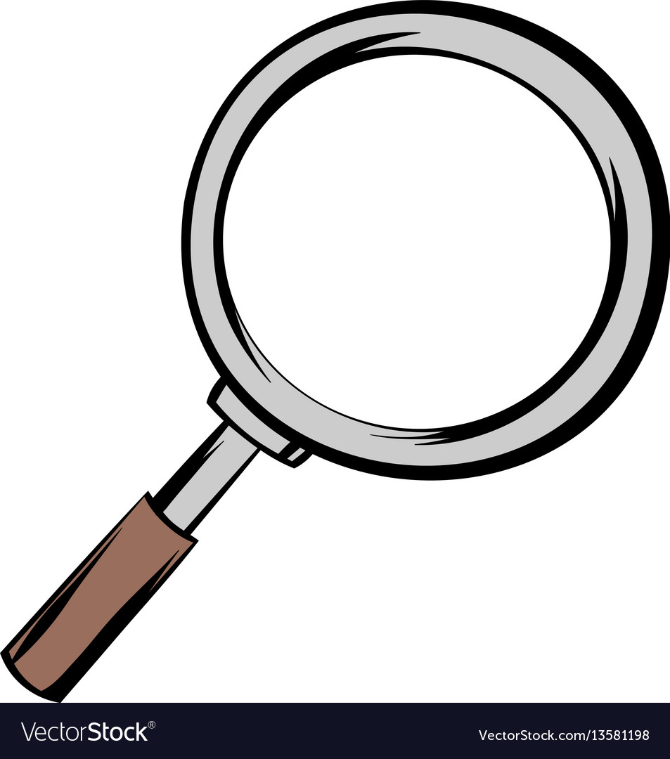 Magnifying glass icon cartoon