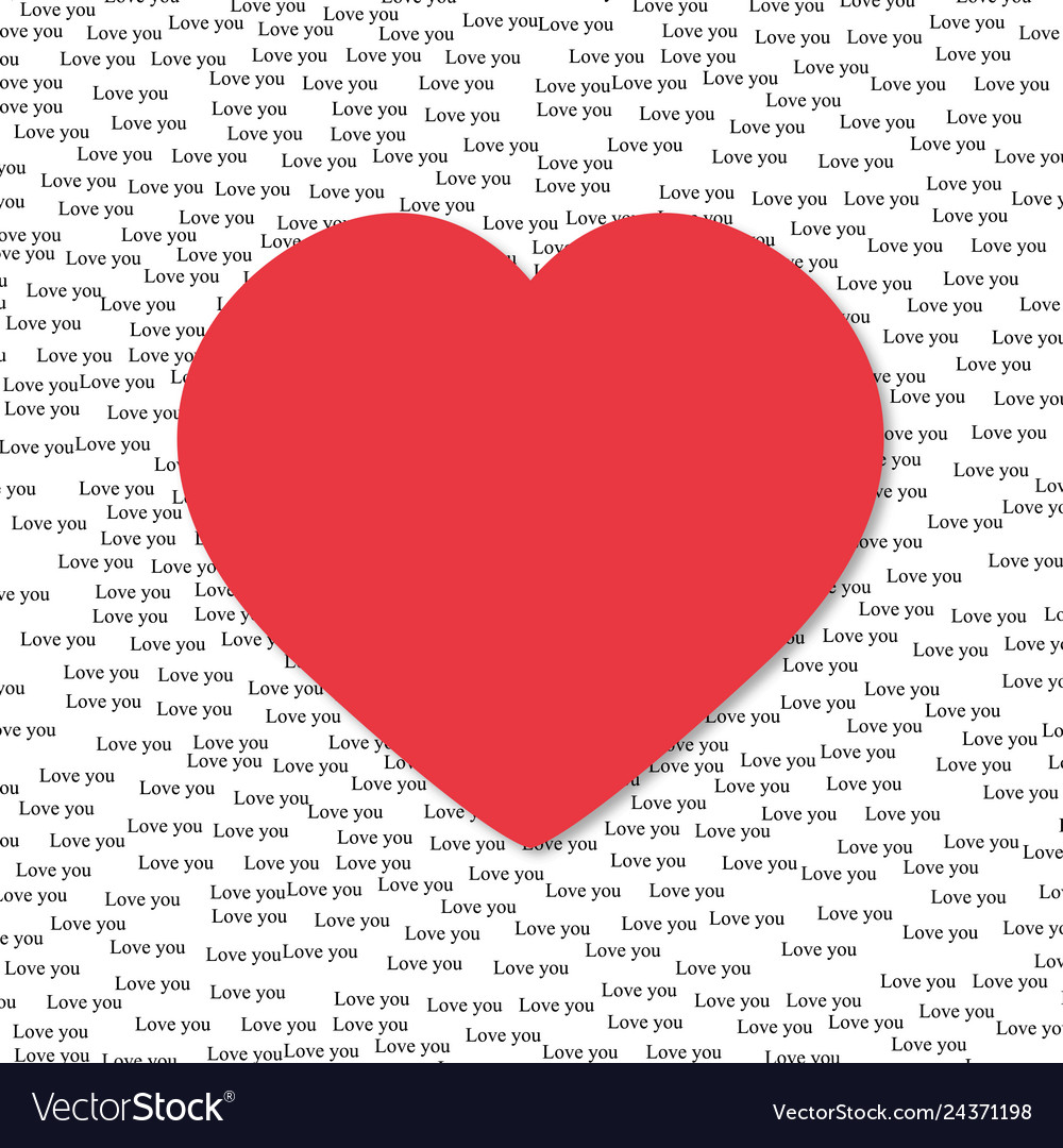 The words i love you on the background with heart