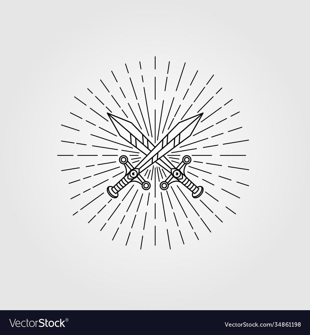 Vintage sword hipster symbol design