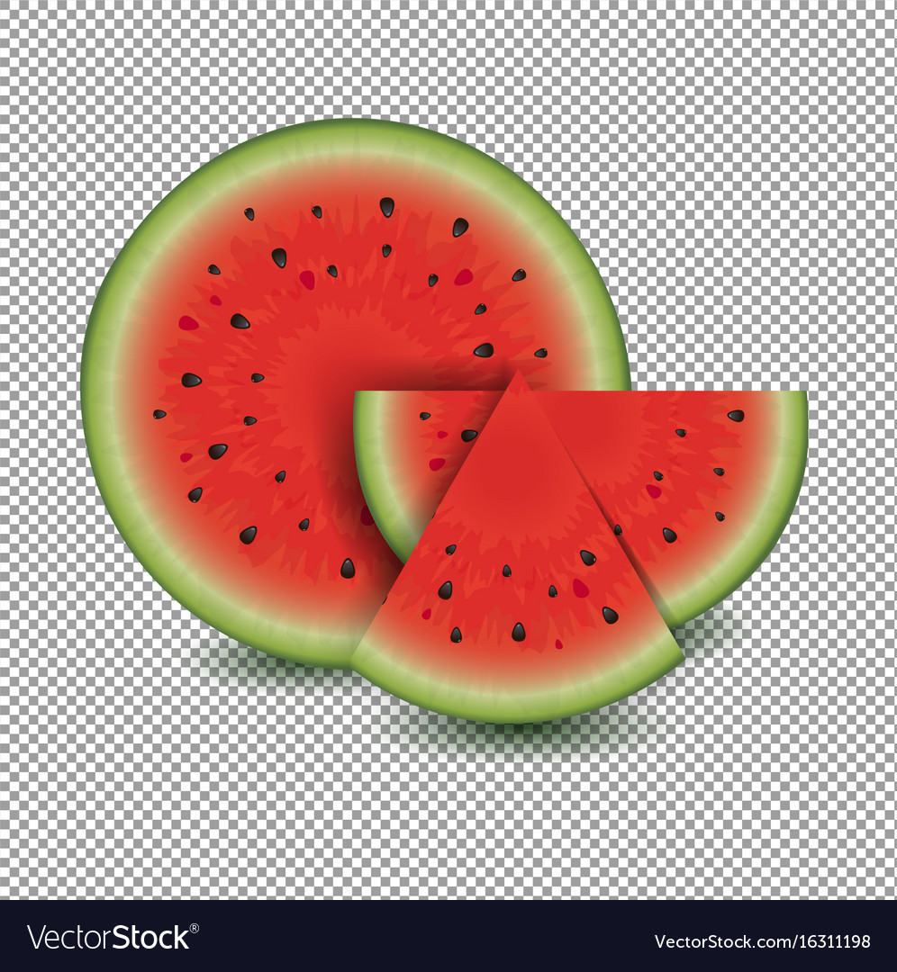 Water melon with transparent background