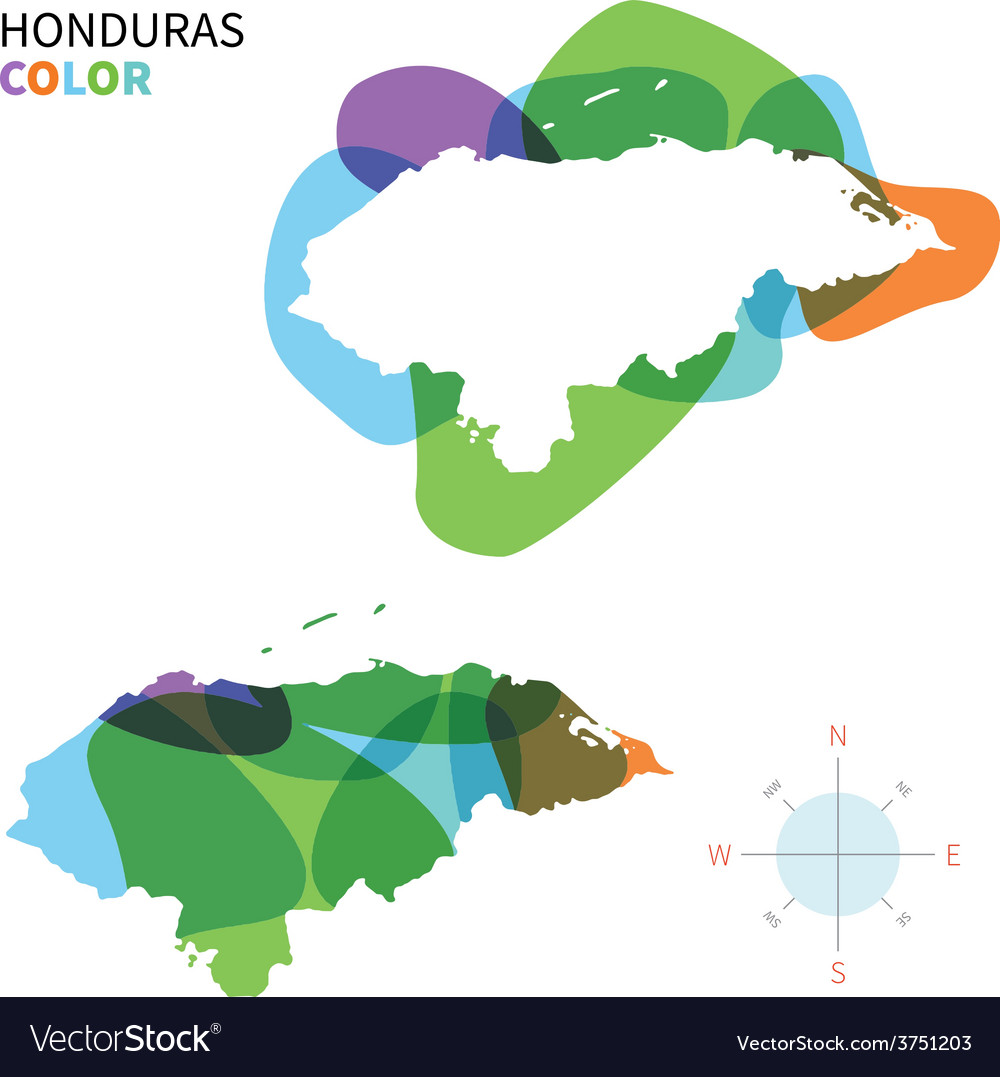 Abstract color map of Honduras