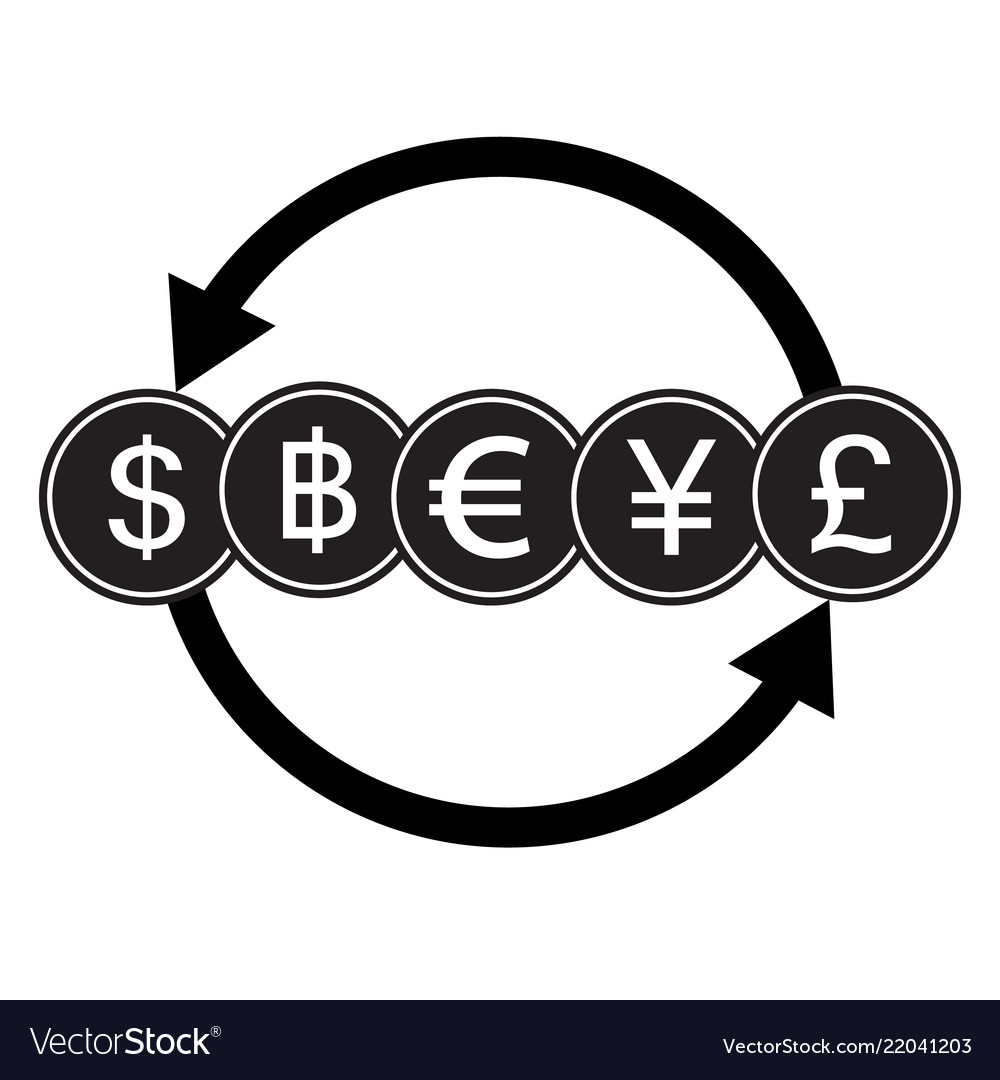 Banking currency sign dollar bath euro yen and
