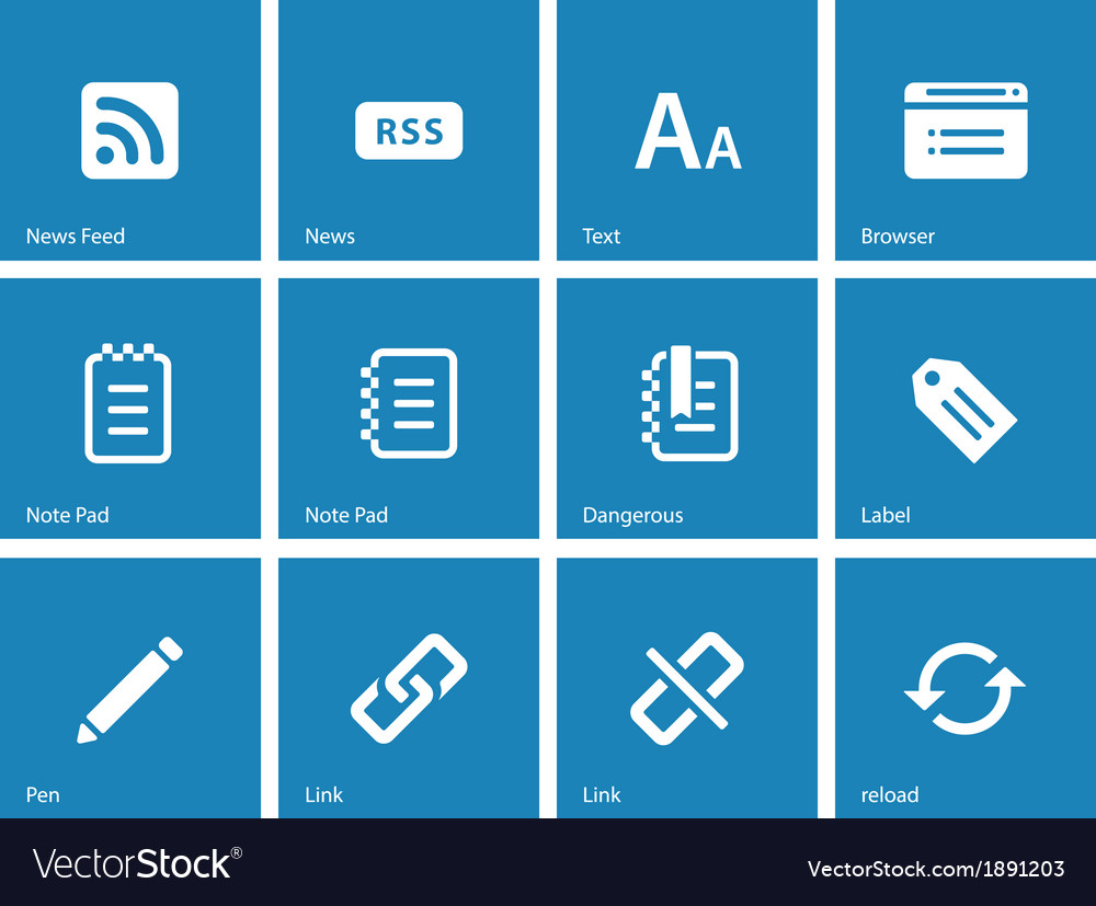 Blogger icons on blue background
