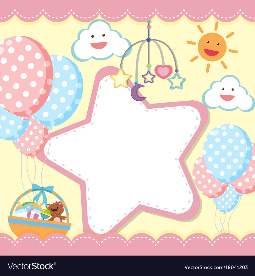 border template with kids theme royalty free vector image
