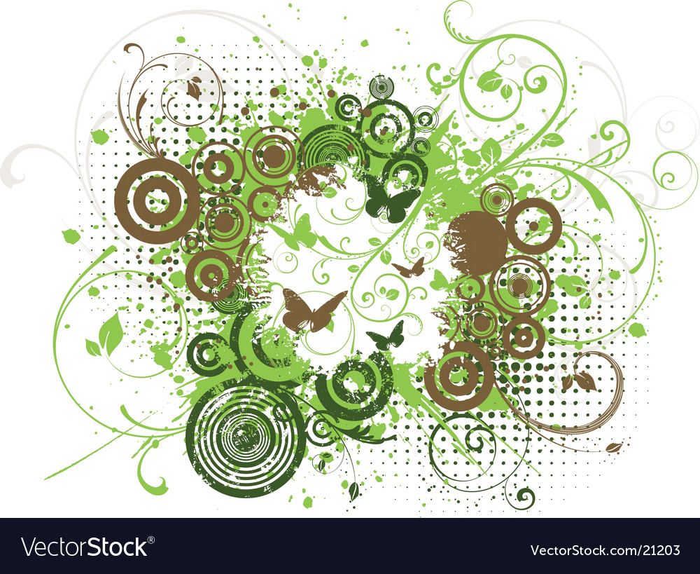 Chaotic grunge vector image