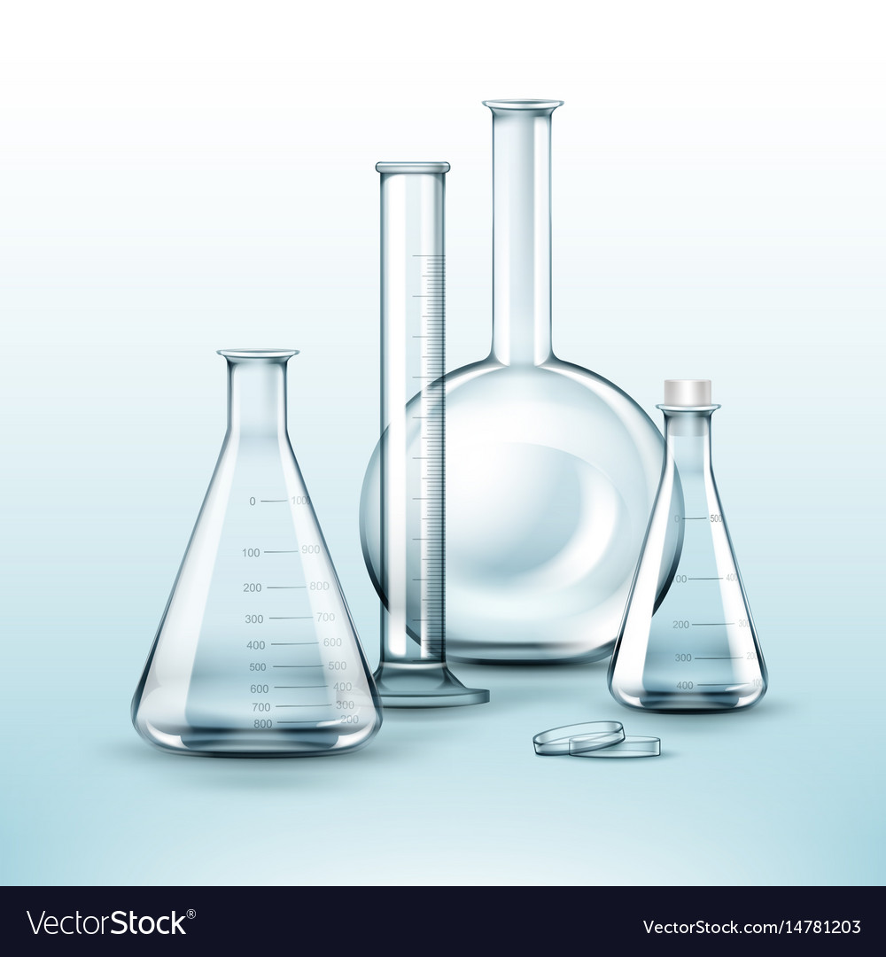 Different chemical flasks