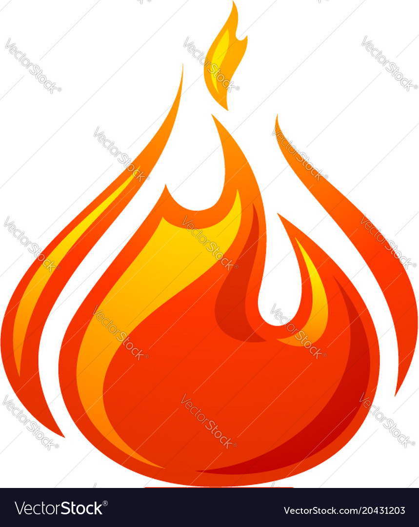 fire flame 3d red icon royalty free vector image rh vectorstock com vector fireworks vector firearms review