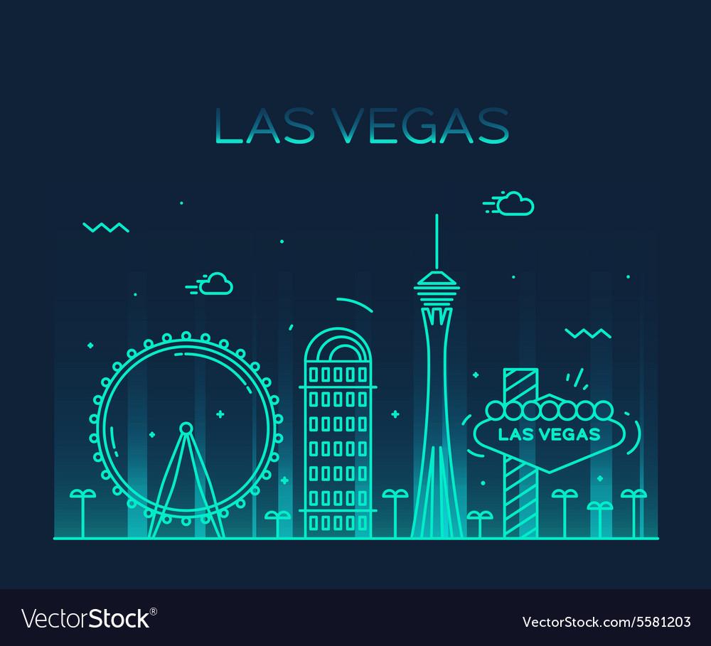 Las Vegas skyline linear