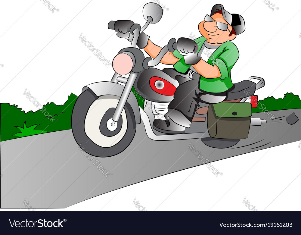 Motorcycle rider vector image