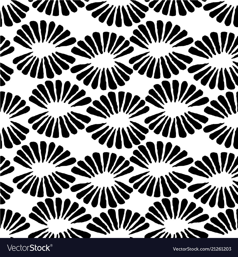 Seamless black and white stamp pattern with