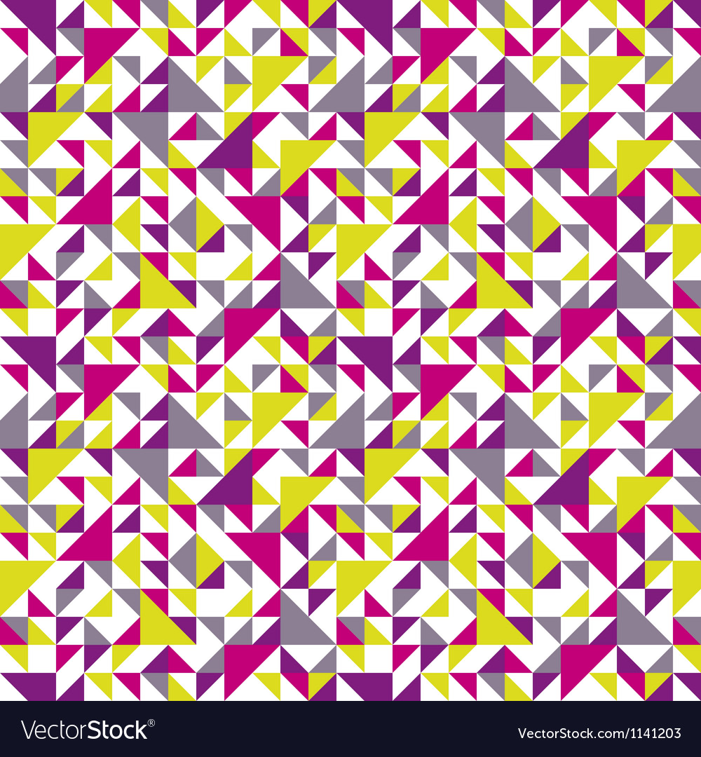 Seamless triangle background pink vector image