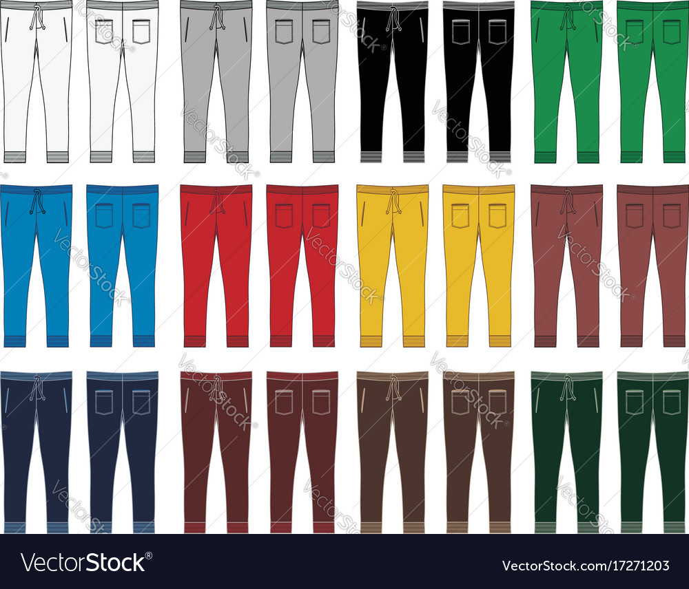 Sketch fashion trousers vector image