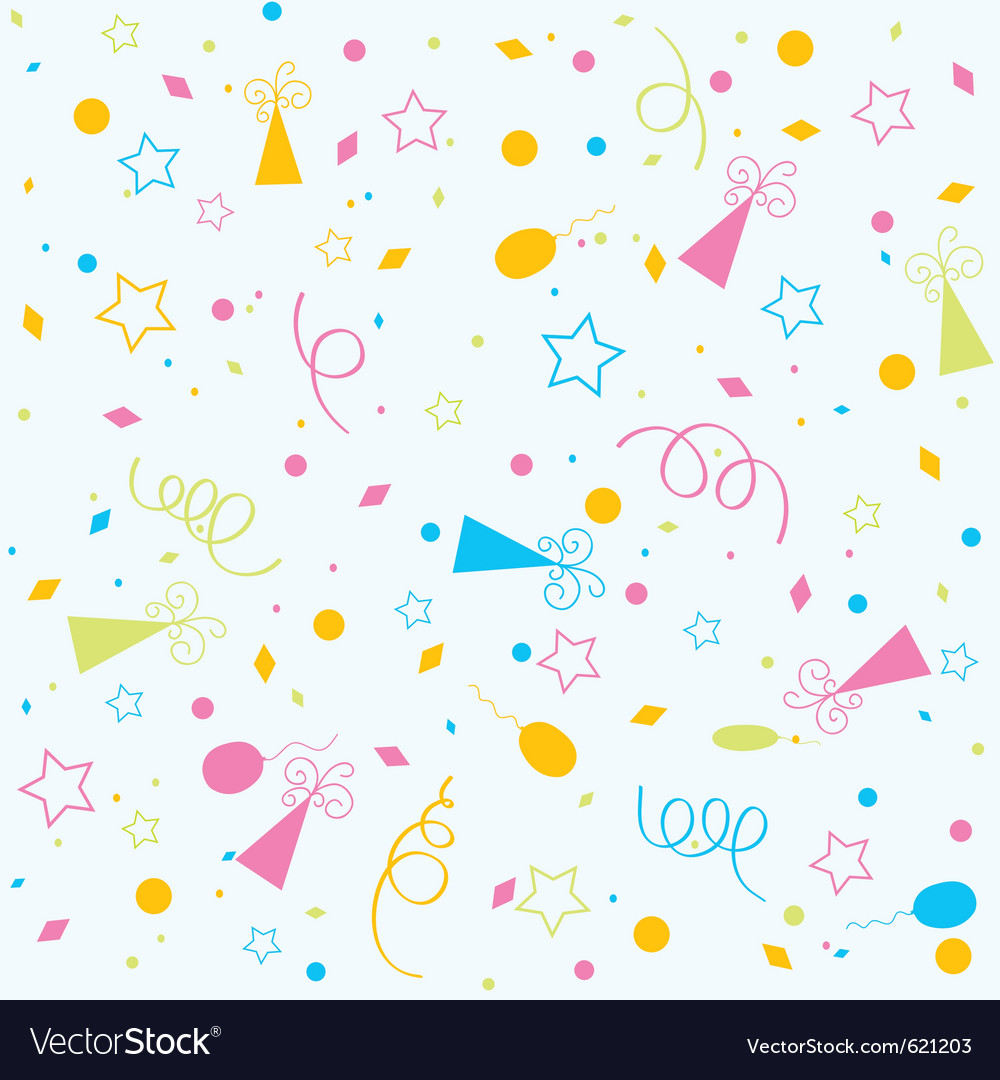 Template Birthday Background Royalty Free Vector Image