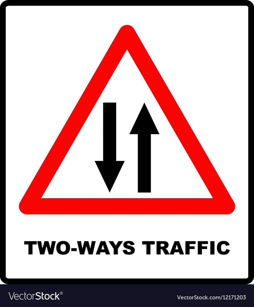 Triangle traffic sign for