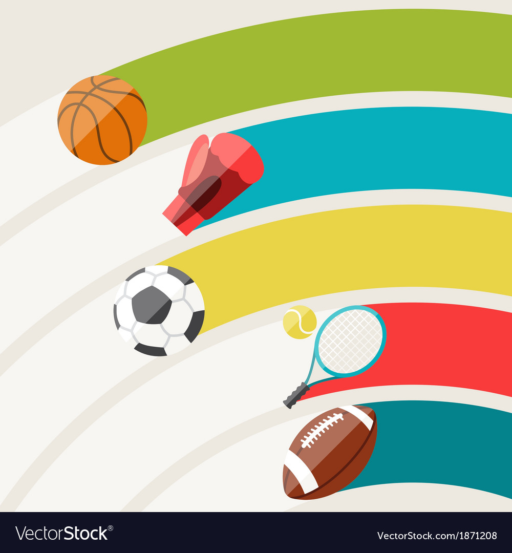 Abstract Background With Sport Icons Royalty Free Vector