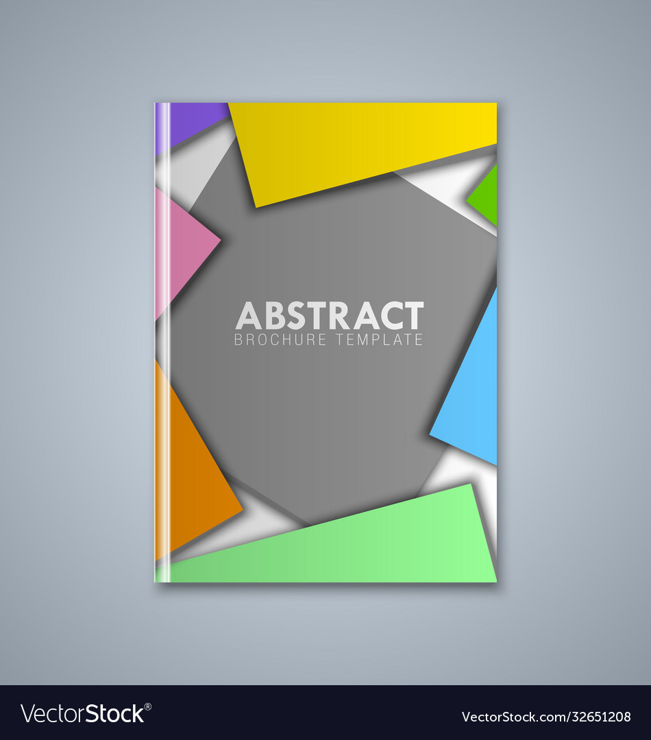 Abstract brochure or book cover template on grey