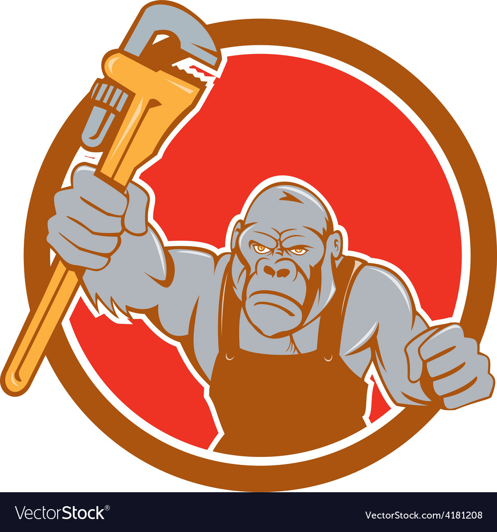 Image result for rolling monkey wrench into it cartoon