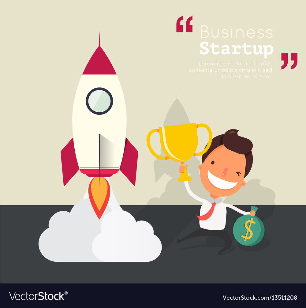 Business cartoon characters for start up concept vector image