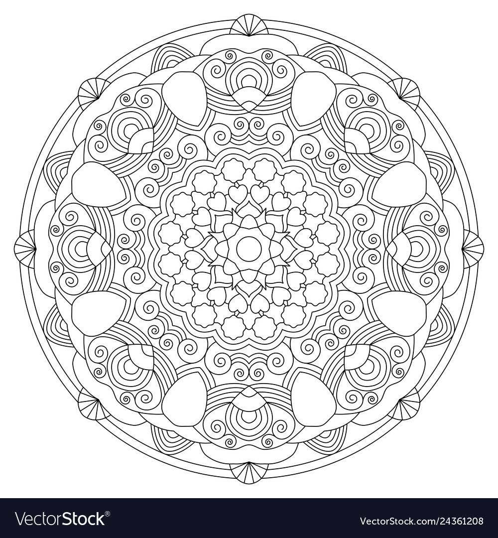 Circular pattern in the form of the mandala