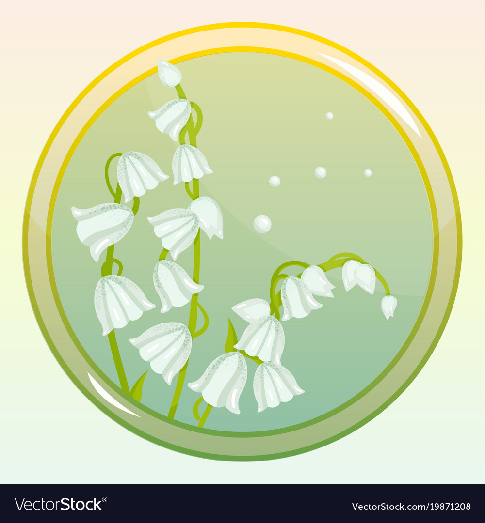 Game icon with lily of the valley flower vector image izmirmasajfo