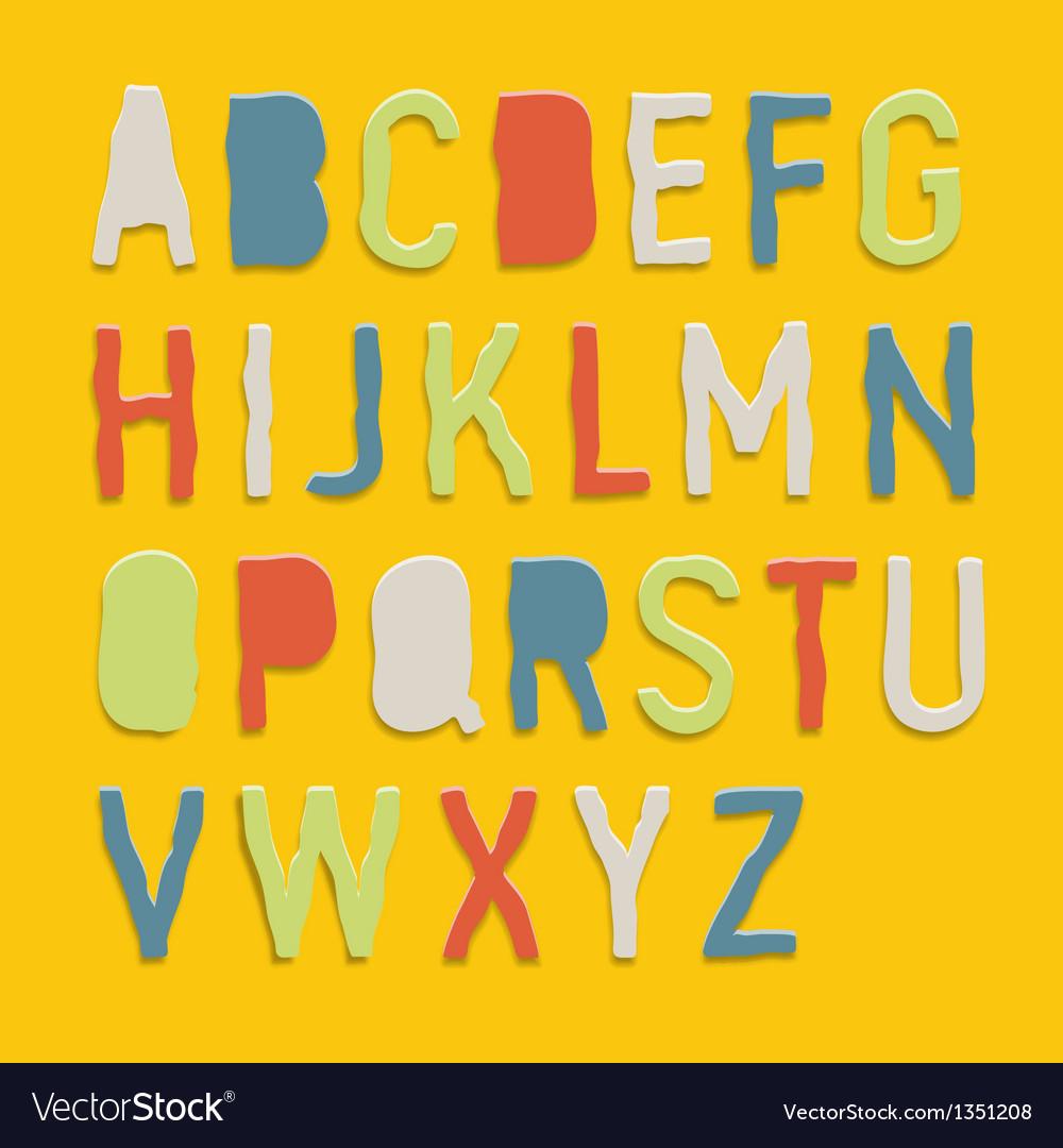 Handmade color paper crafting alphabets