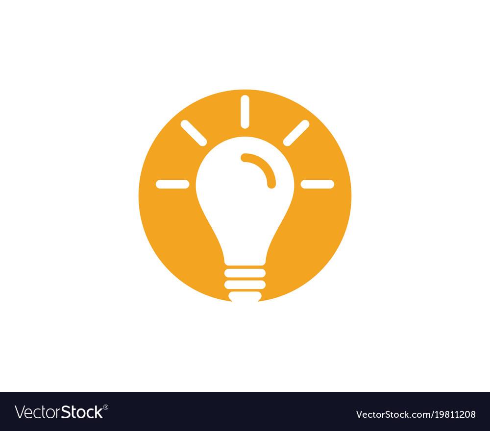 Light Bulb Symbol Logo Template Royalty Free Vector Image