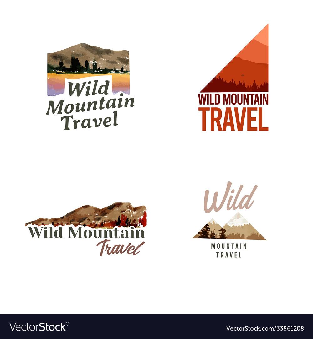 Logo design with landscape in autumn