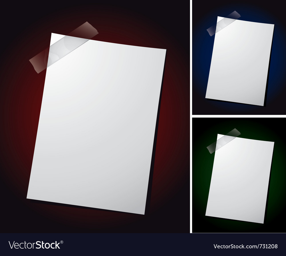 Note paper on different backgrounds