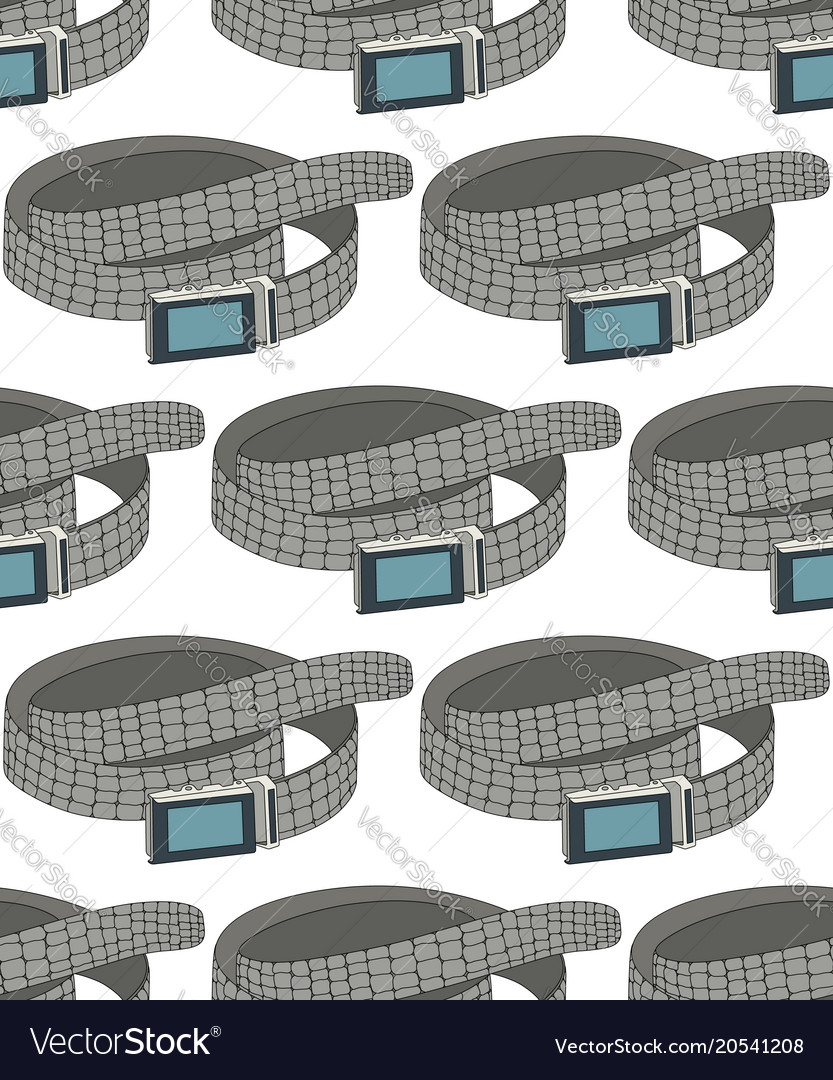 Seamless pattern with gray belts vector image