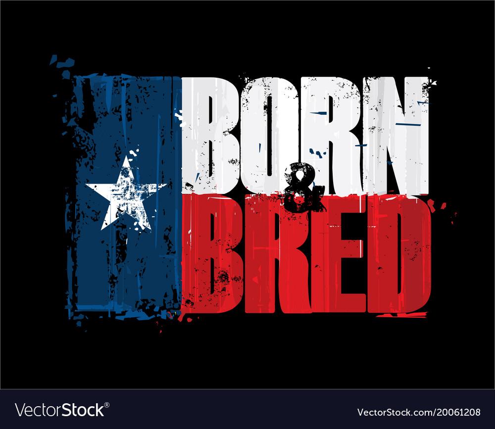 Texan flag born n bred