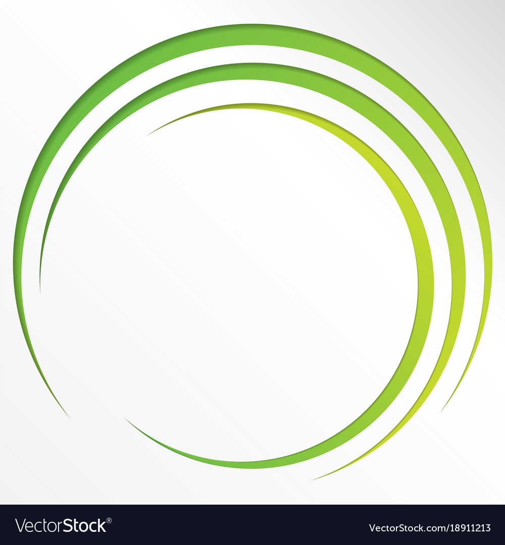 Abstract bright background with circles and green