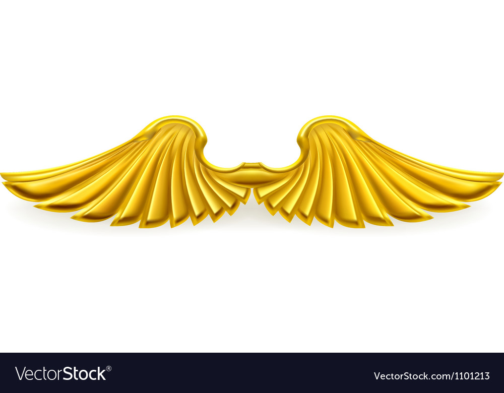 Wing Gold >> Golden Wings Royalty Free Vector Image Vectorstock