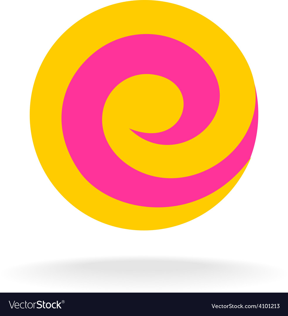 letter e colorful logo template lollipop concept vector image