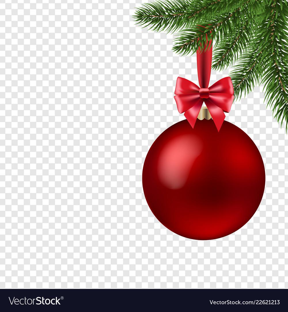 Christmas Transparent Background.Xmas Ball Isolated Transparent Background