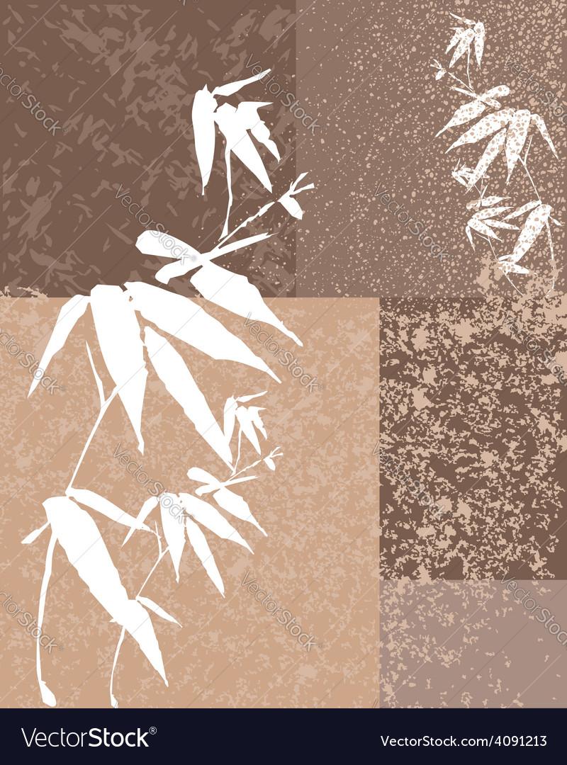 Zen bamboo vintage background