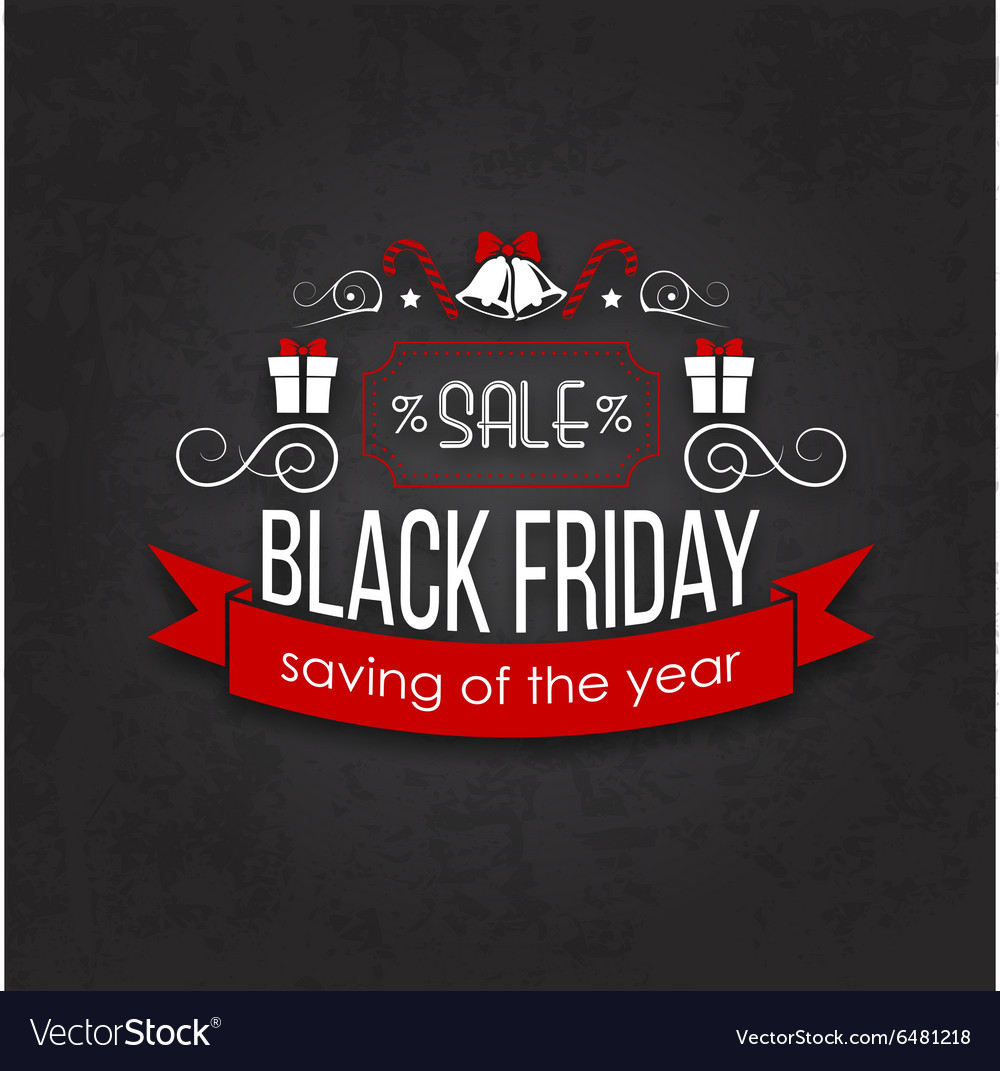 black friday sale calligraphic designs royalty free vector