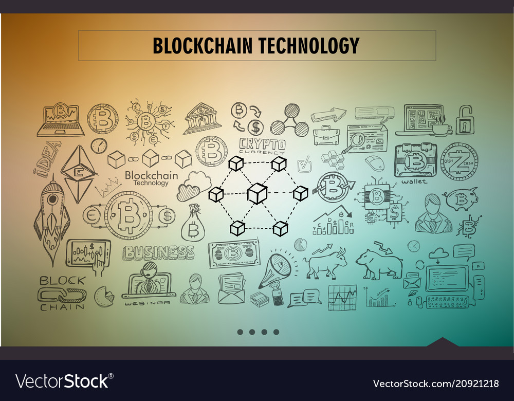 Cryptocurrency concept hand drawn doodle designs