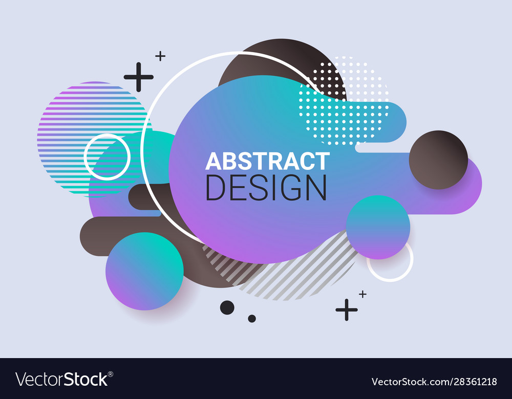Dynamical colored form gradient abstract banner