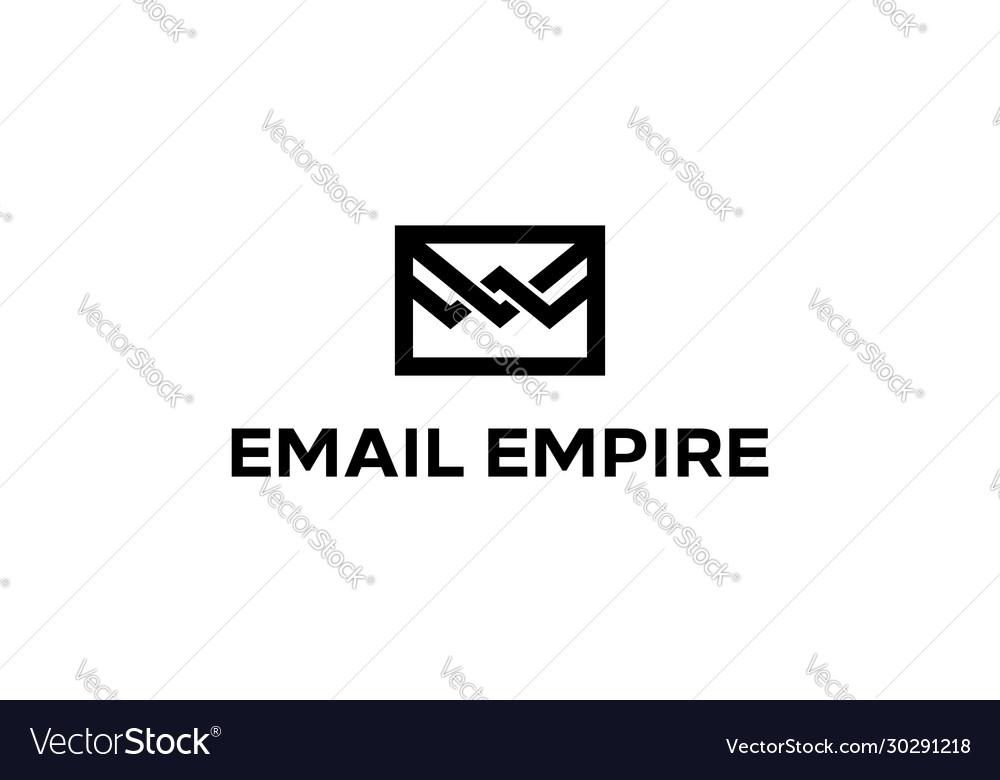Email empire logo design concept