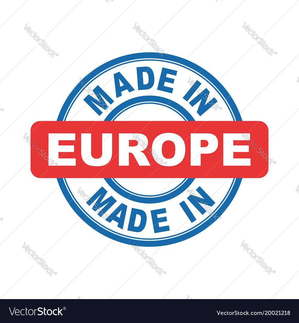 Made in europe emblem flat