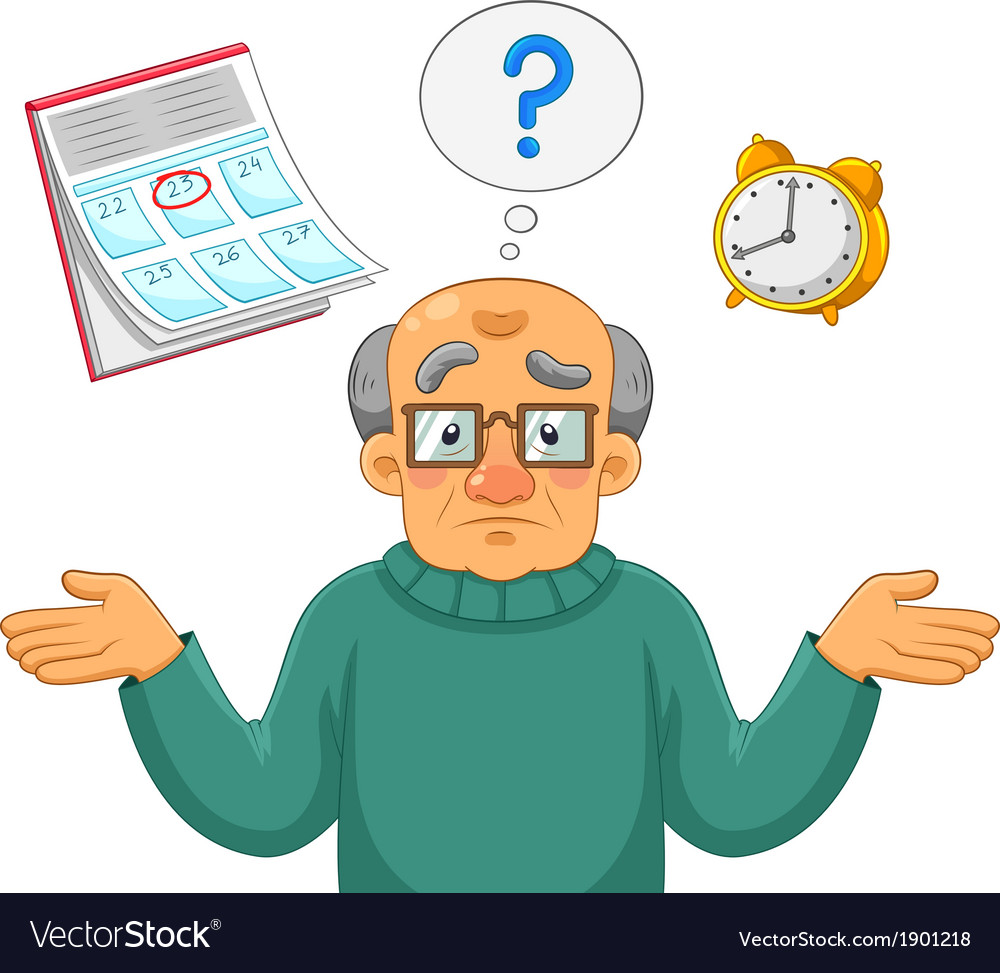 Memory problems vector image