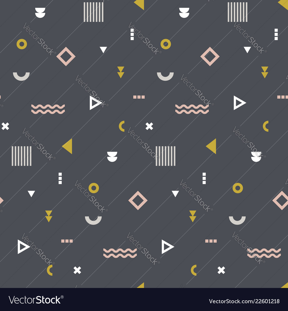 Memphis seamless pattern repetitive print with