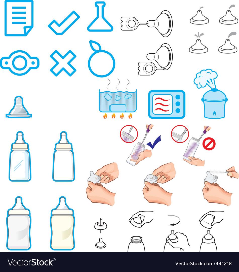 Nursery Accessories Vector Image