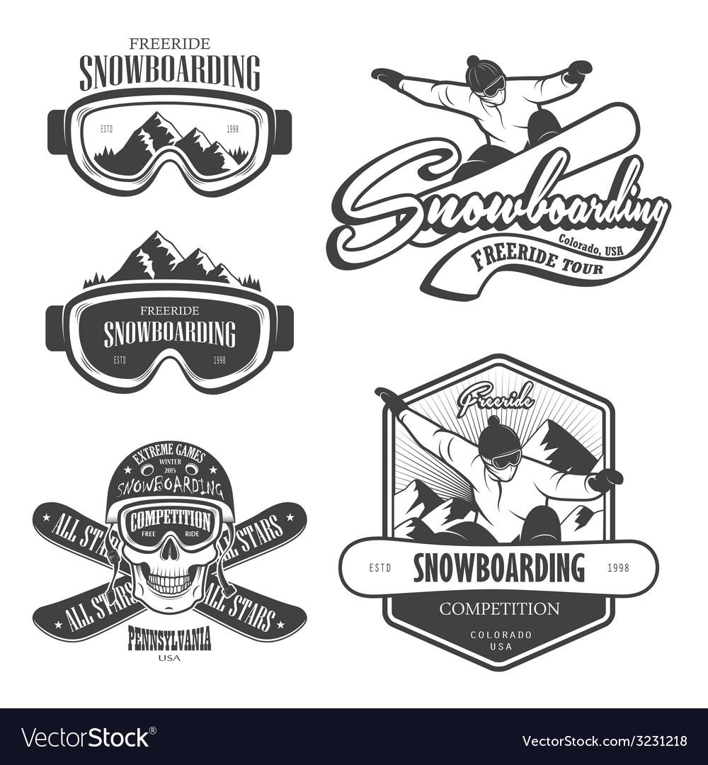 Snowboard 2 vector image