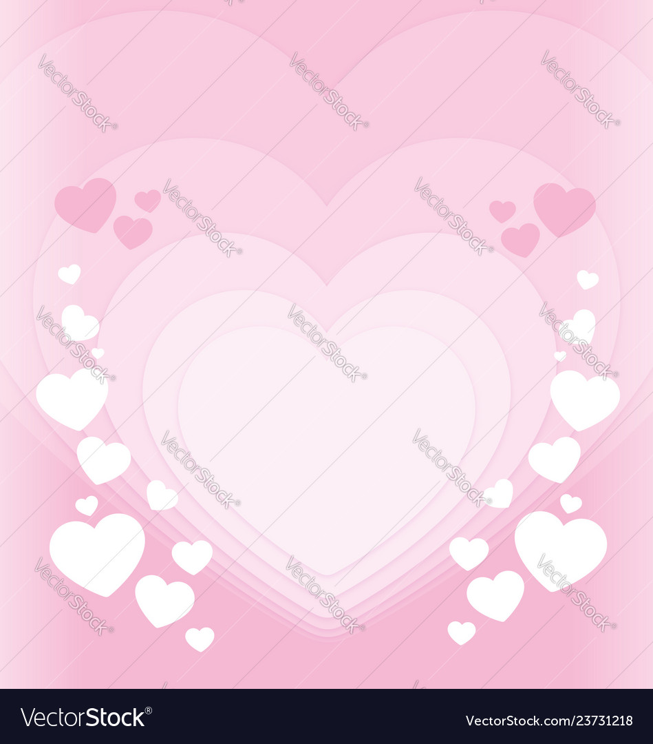 Soft pink hearts valentines background