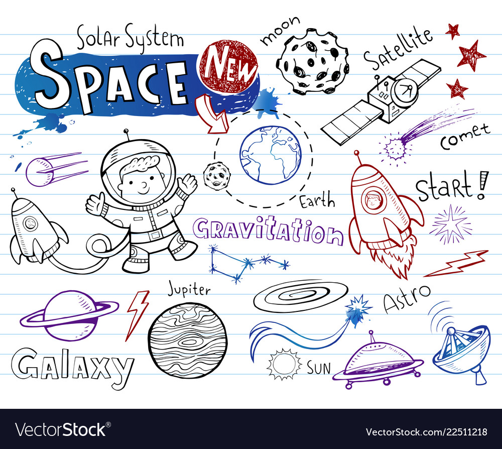 Space doodles collection