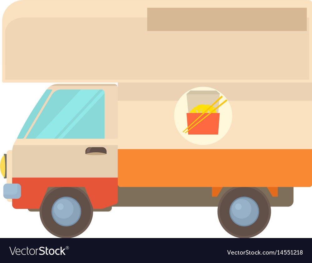 Street food truck icon cartoon style vector image