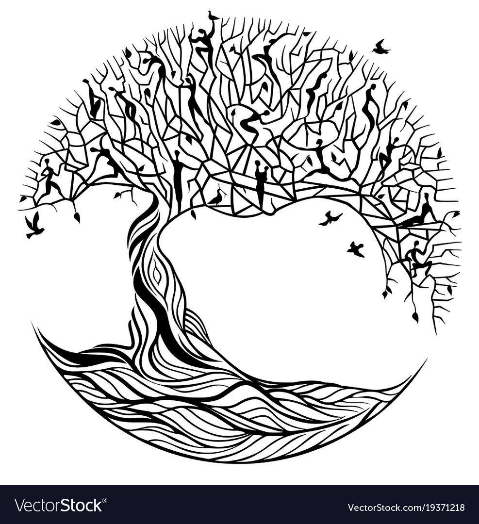 tree of life on a white background royalty free vector image rh vectorstock com tree of life vector clip art tree of life vector art